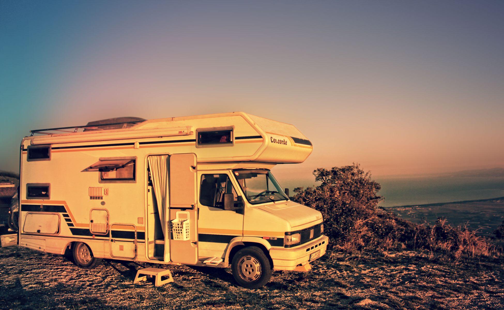 Wohnmobil Abendsonne Italien